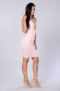 Strap Me Up Dress - Dark Pink Angle 3