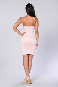 Strap Me Up Dress - Dark Pink Angle 2