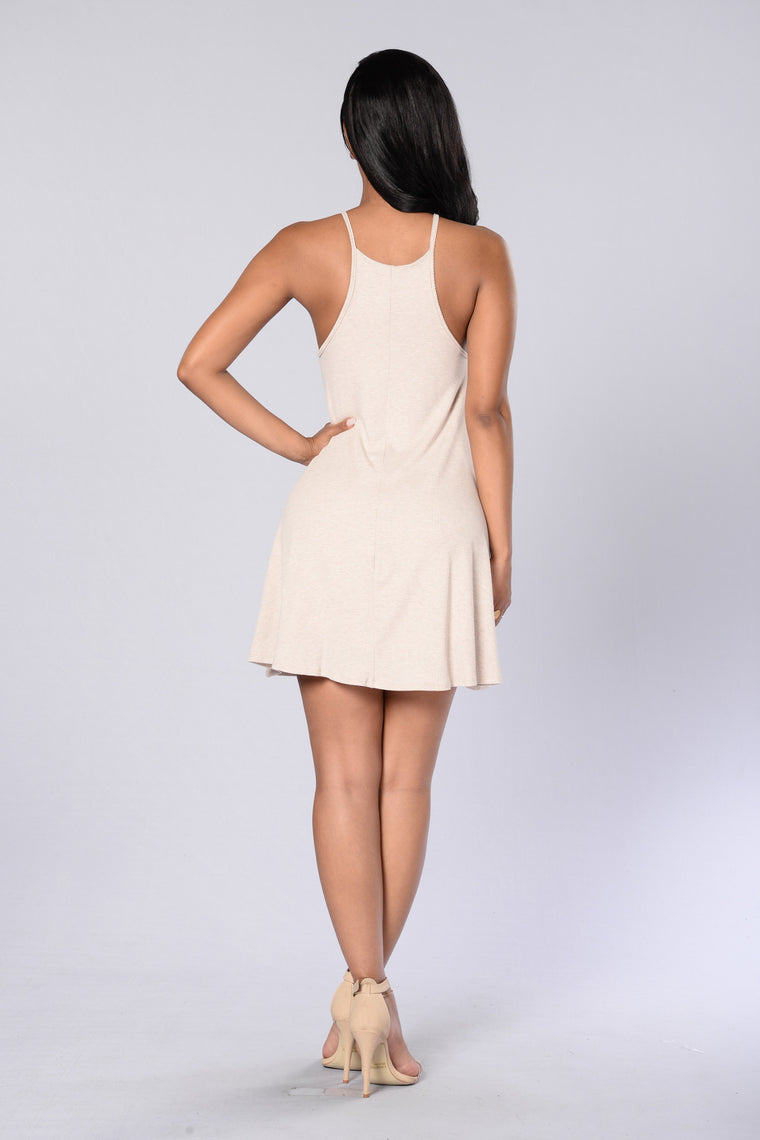 Pinned Dress - Taupe
