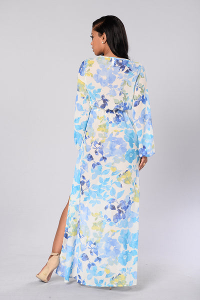 Ocean View Dress - Blue