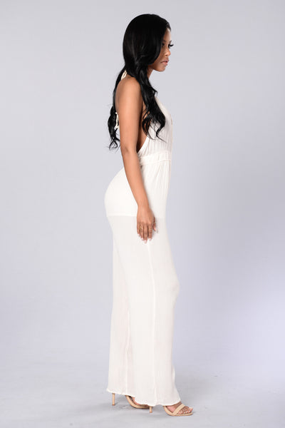Free Falling Jumpsuit - White