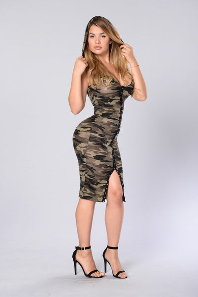 Summer Camp Dress - Camo