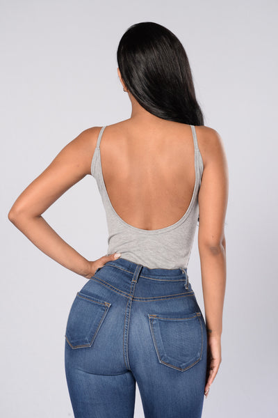 'Til The End Bodysuit - Heather Grey