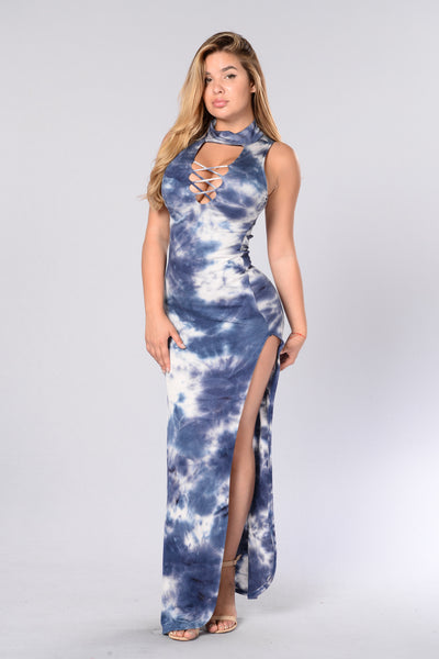 Energy In Every Movement Dress - Navy