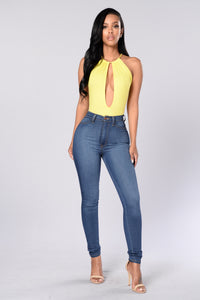 Desirable Bodysuit - Yellow
