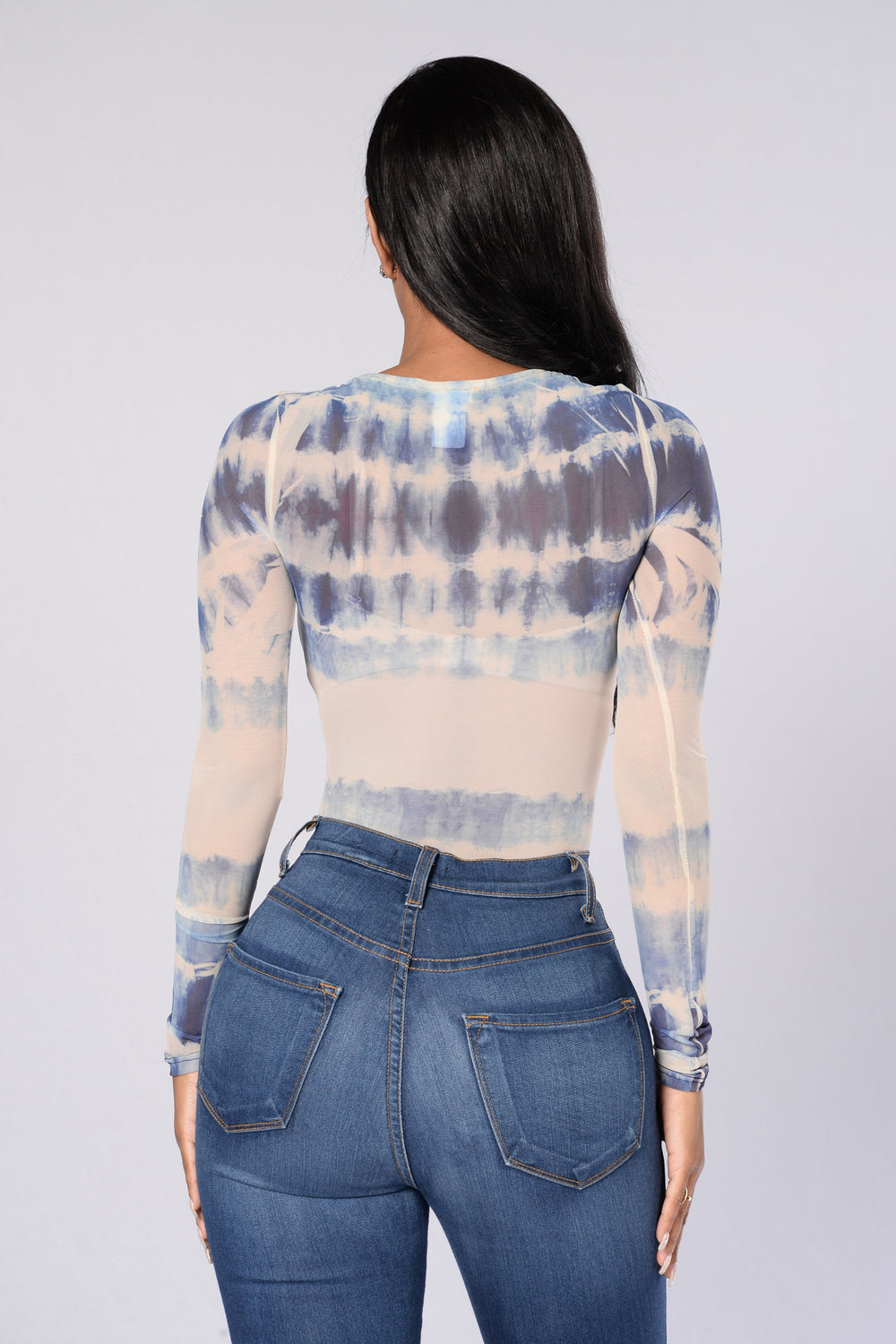 Wonderlust Tie Dye Bodysuit - Blue