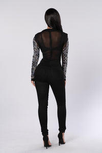 Shine Like Diamonds Top - Black