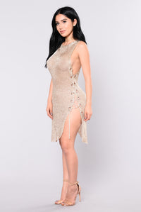 Ashvini Metallica Dress - Gold