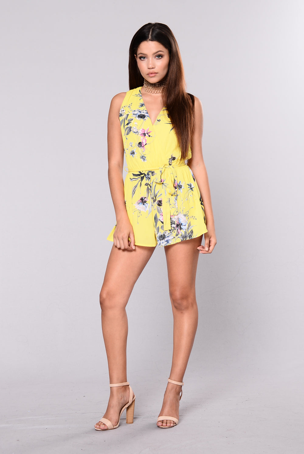 Love You Till The End Of Time Romper - Yellow