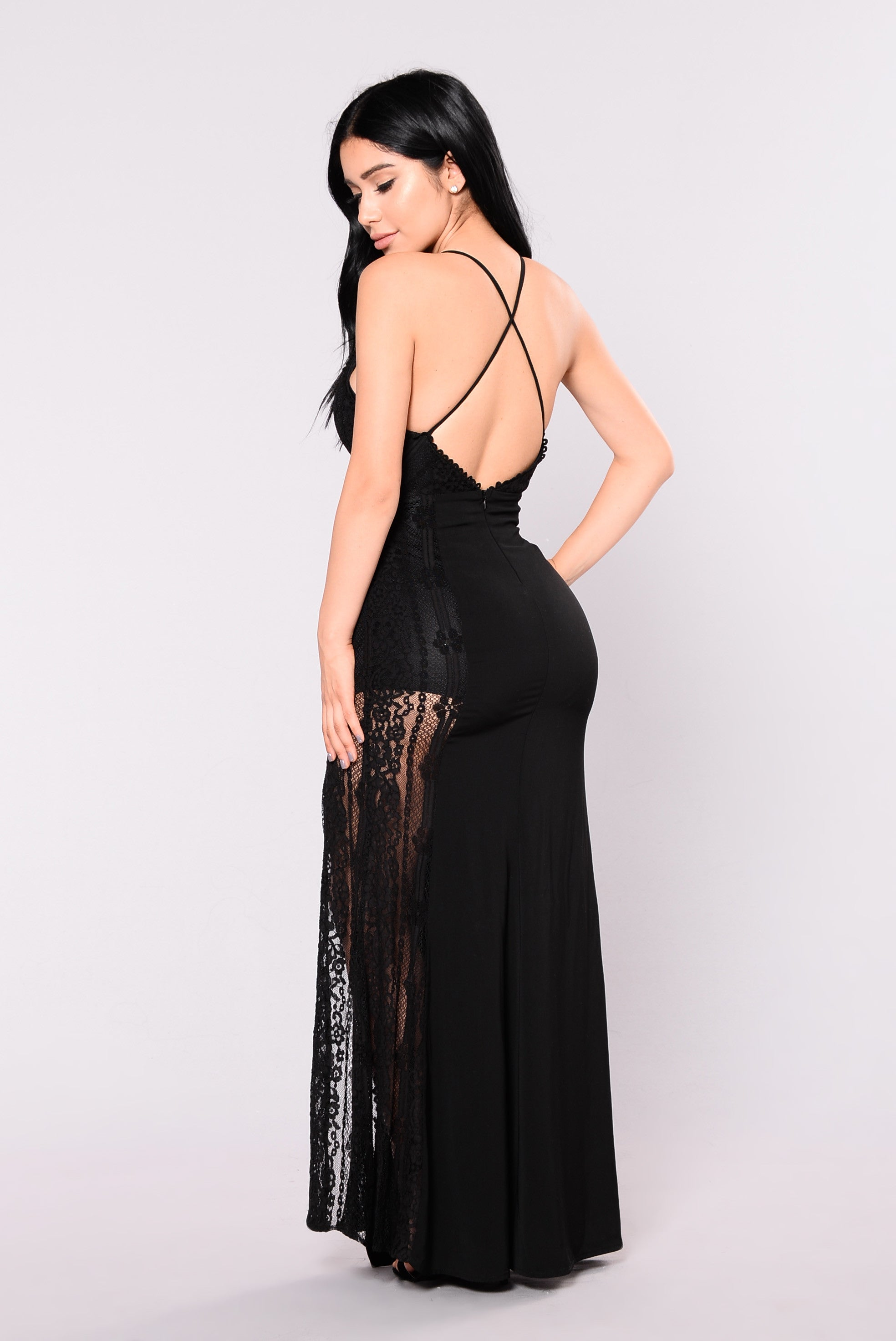 Dreaming In Lace Dress - Black
