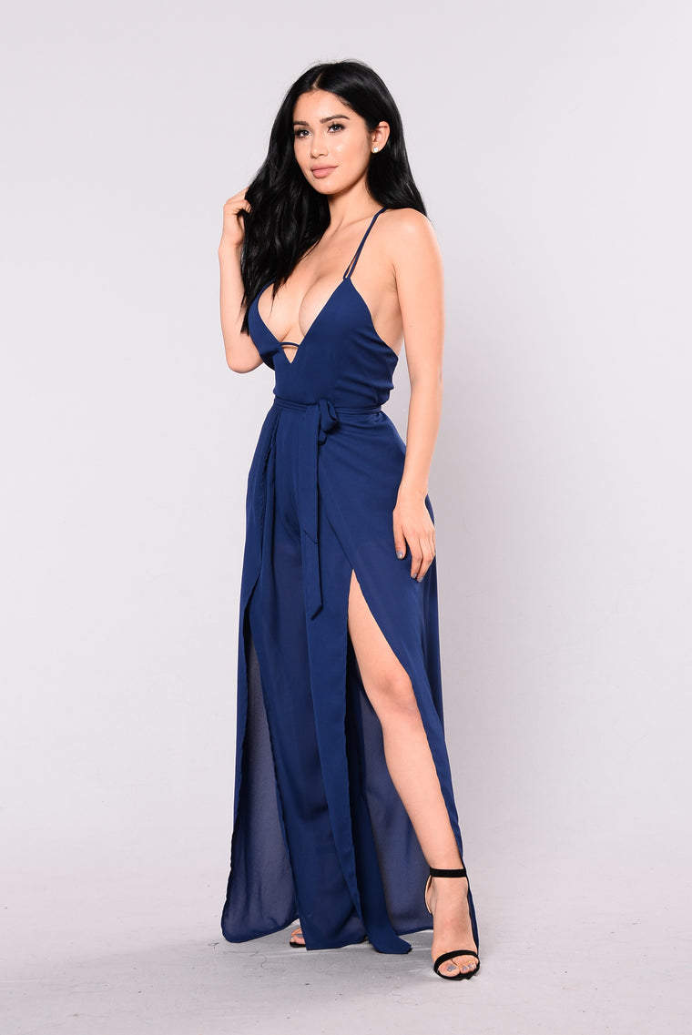 Backseat Jumpsuit - Navy