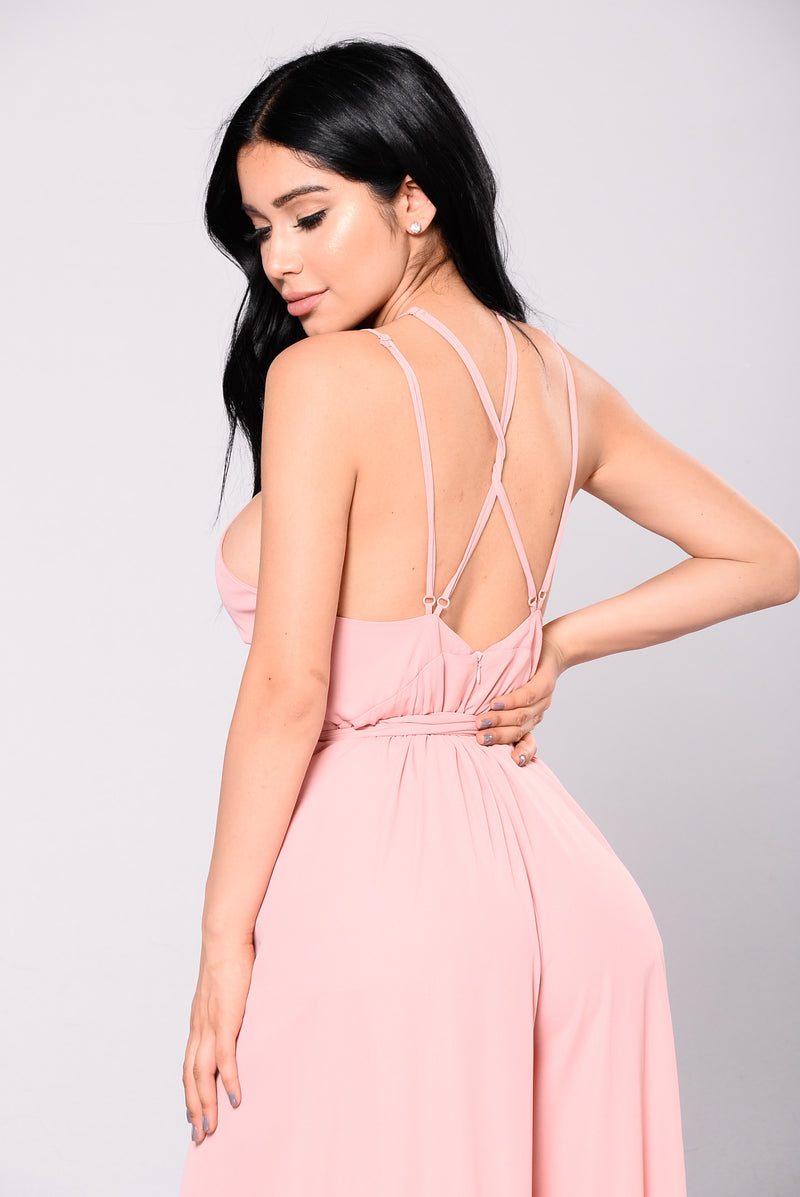 Backseat Jumpsuit - Dusty Pink