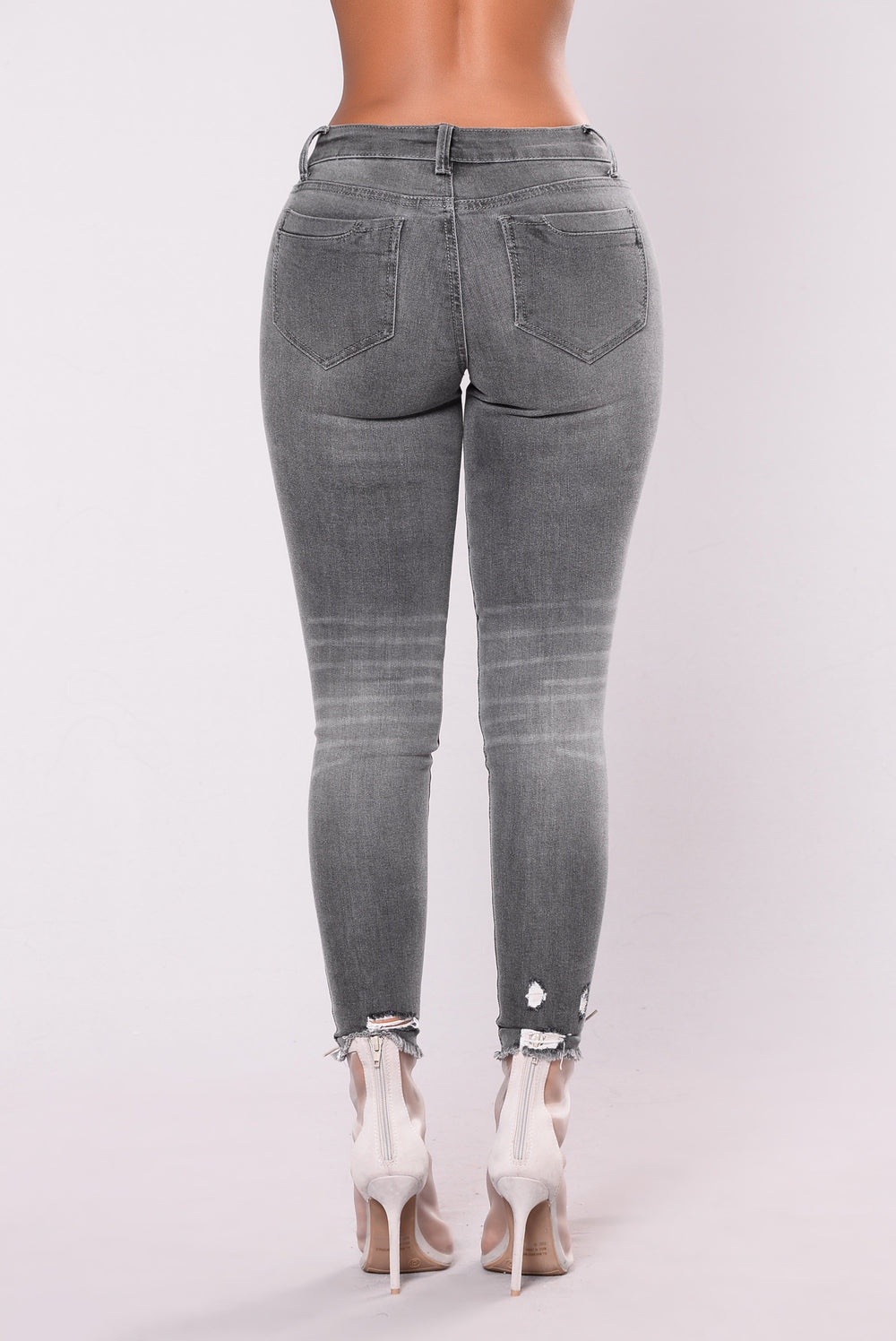 Nervous Around You Jeans - Grey Wash