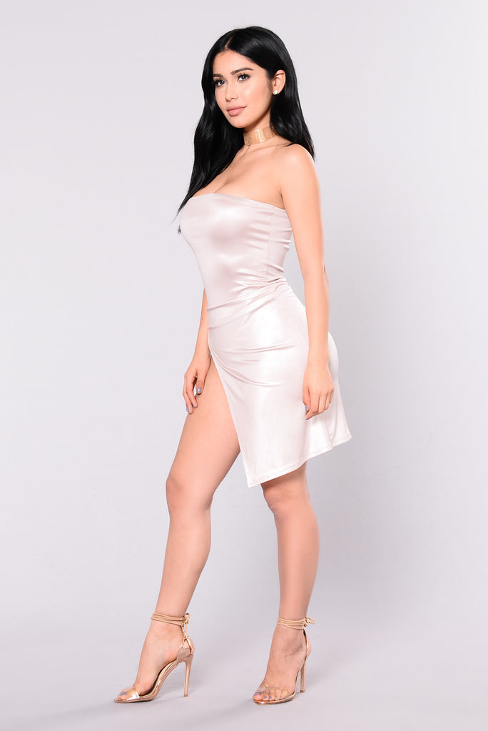 Avaline Tube Dress - Champagne