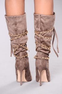 Sweet And Soft Suede Boot - Taupe