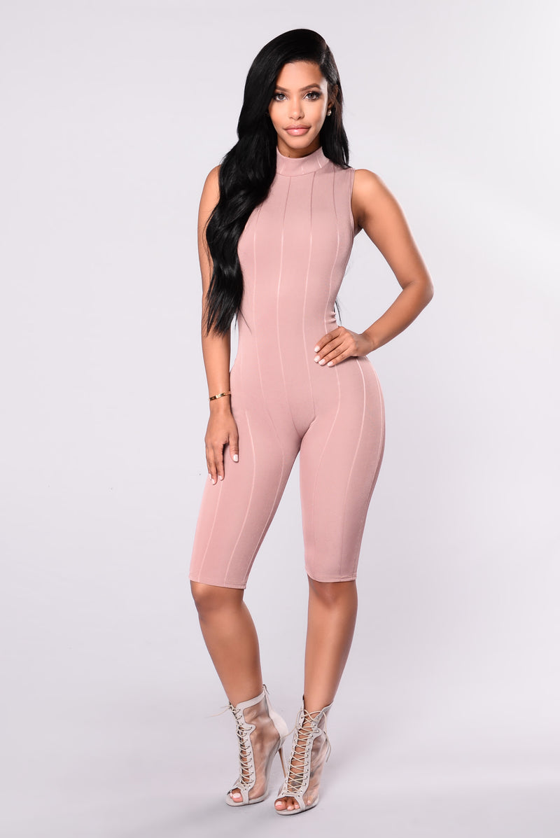 Jocelyn Jumpsuit - Red Brown