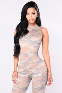 Stay Hidden Jumpsuit - Camo