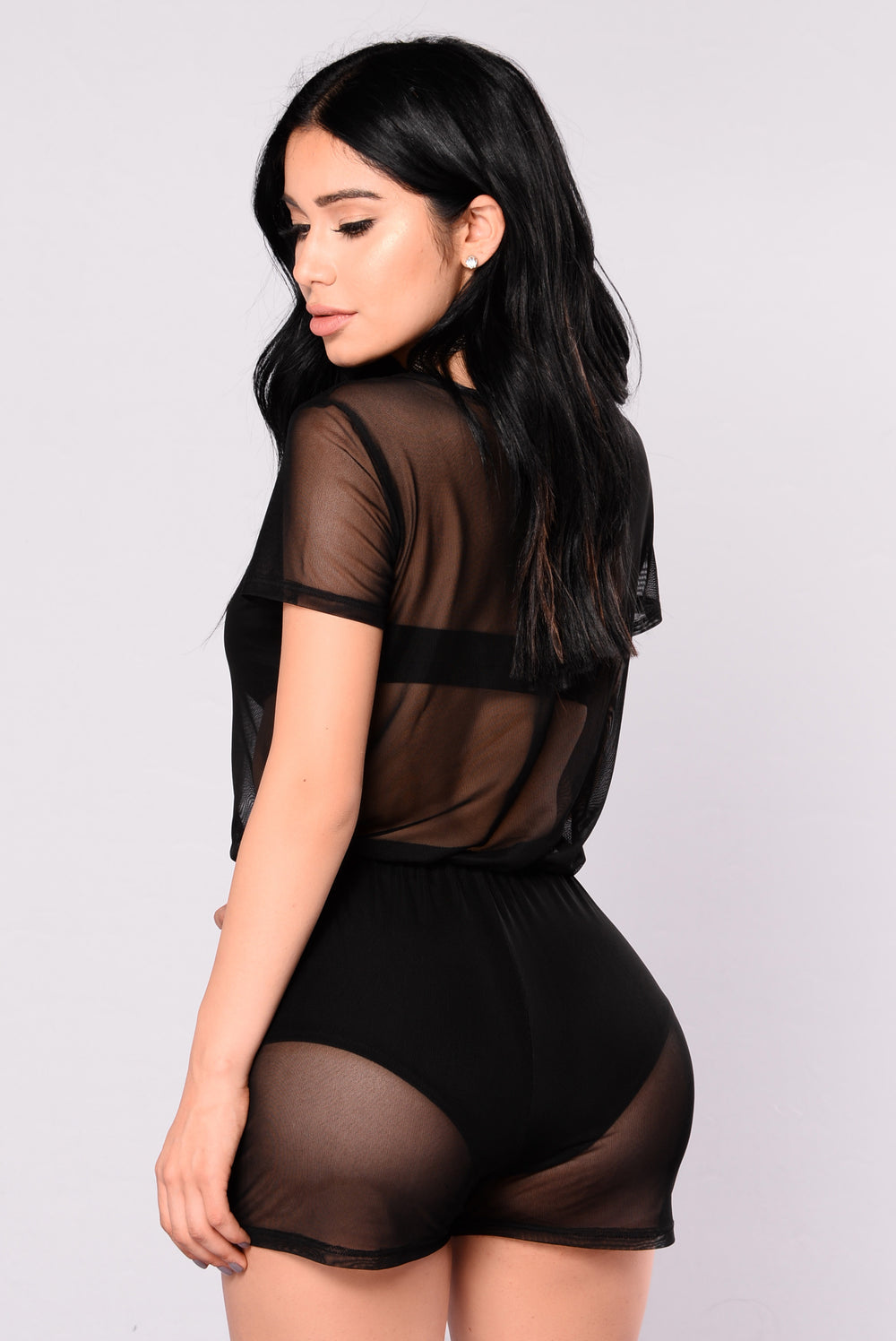 Ryleigh Mesh Romper - Black