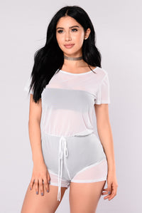 Ryleigh Mesh Romper - White