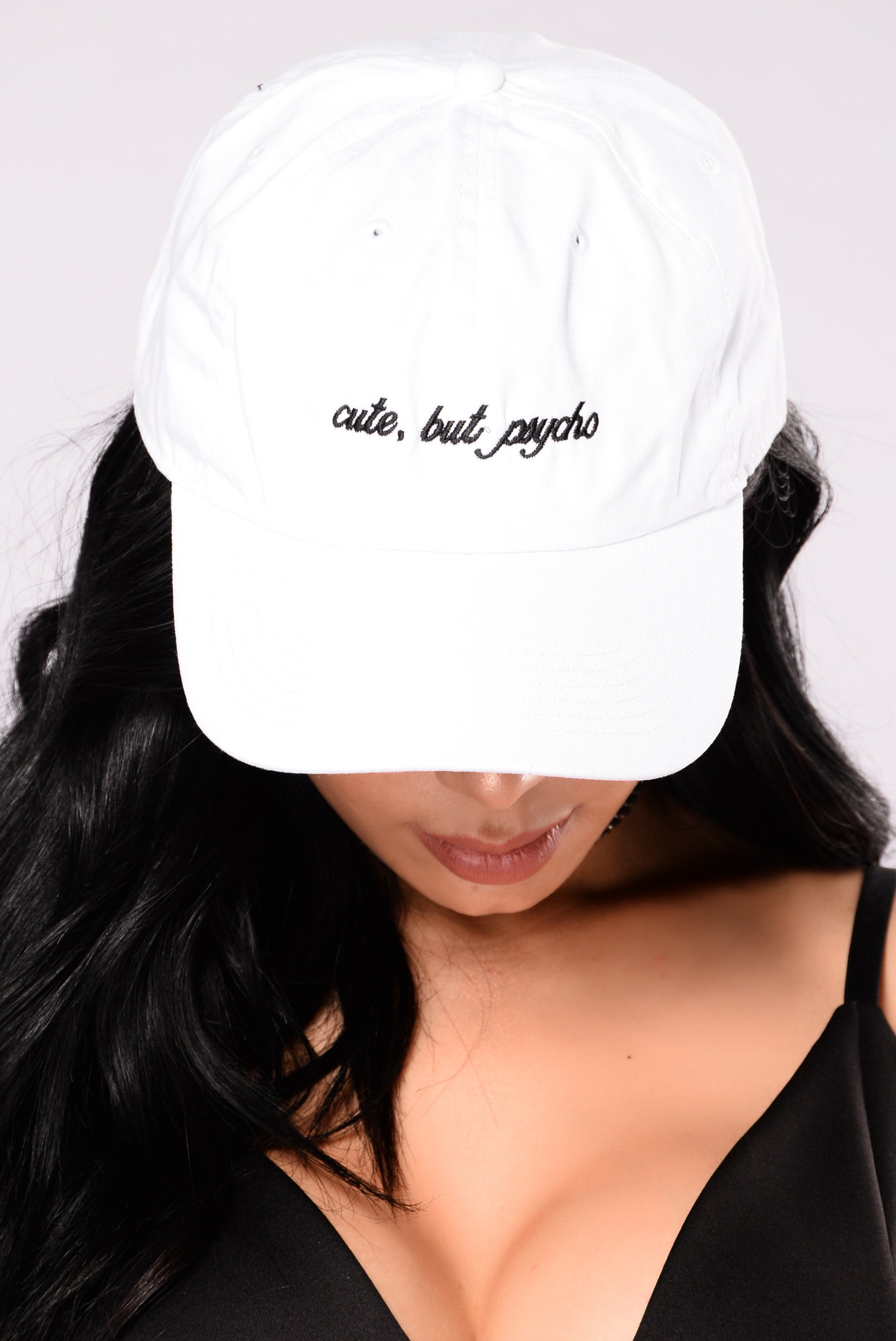 bc7a9ed47a5b2 Cute But Psycho Cap - White