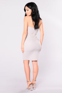 Looking For Someone New Dress - Light Grey
