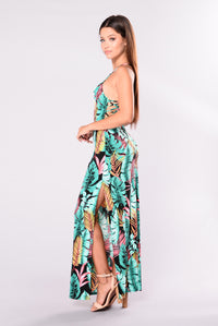 Kailua Dress - Black/Green