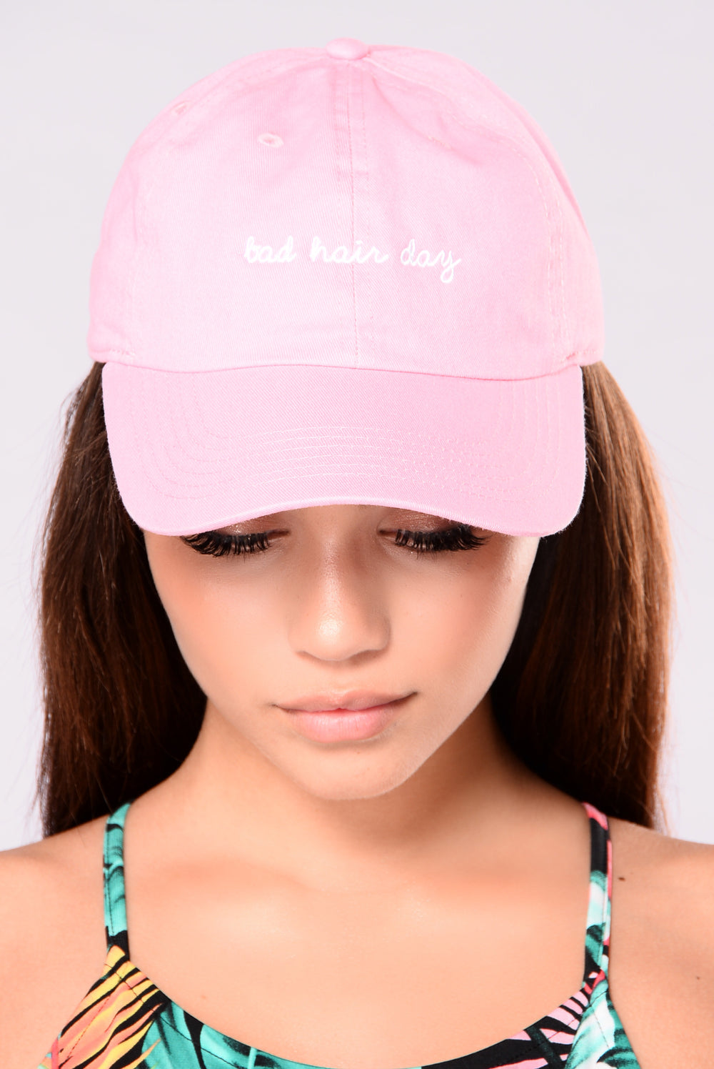 Bad Hair Day Cap - Pink/White