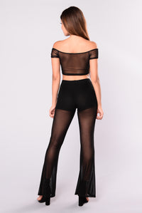 Patti Mesh Pants - Black