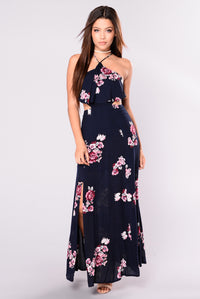 Open to It Dress - Navy/Floral