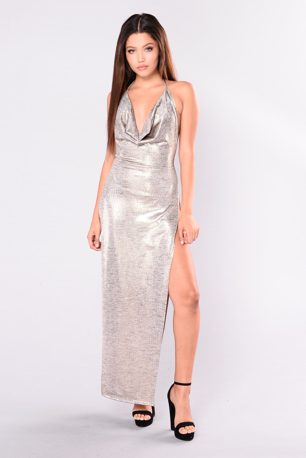 Glam Squad Maxi Dress - Gold