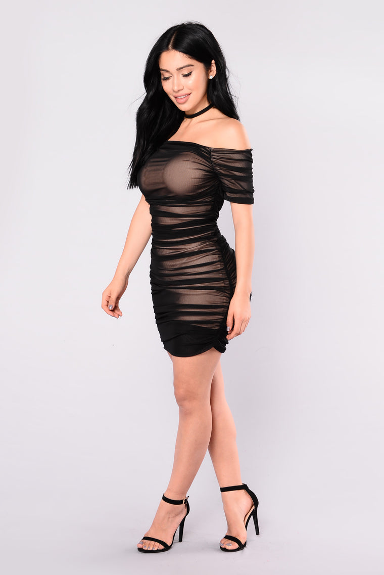 Body Love Dress - Black/Nude