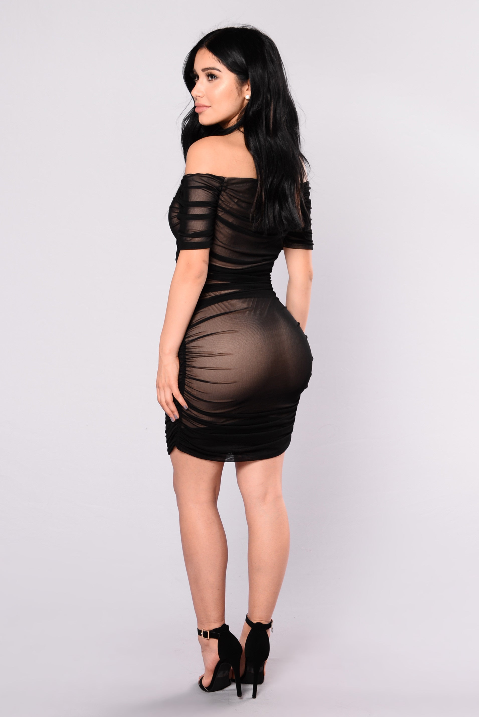 nude fashion Body Love Dress - Black/Nude