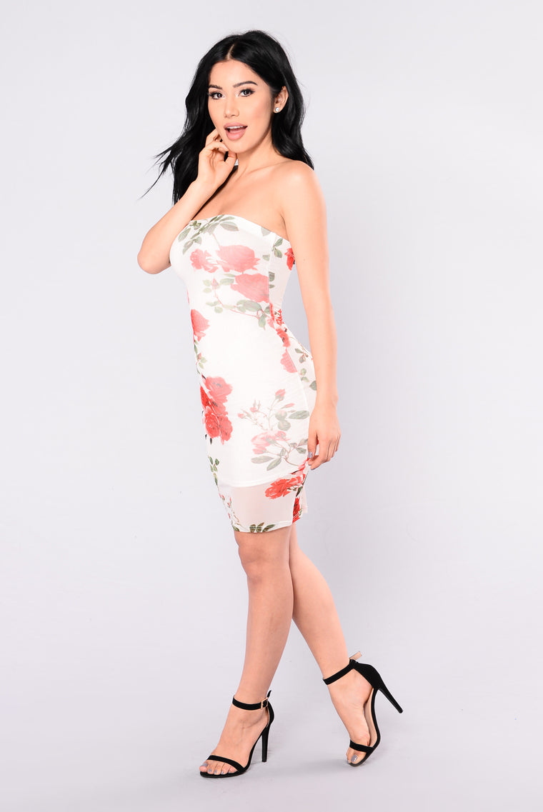 Just Say The Word Dress - Ivory/Floral