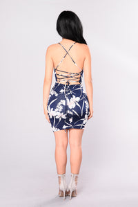 Cool World Dress - Navy