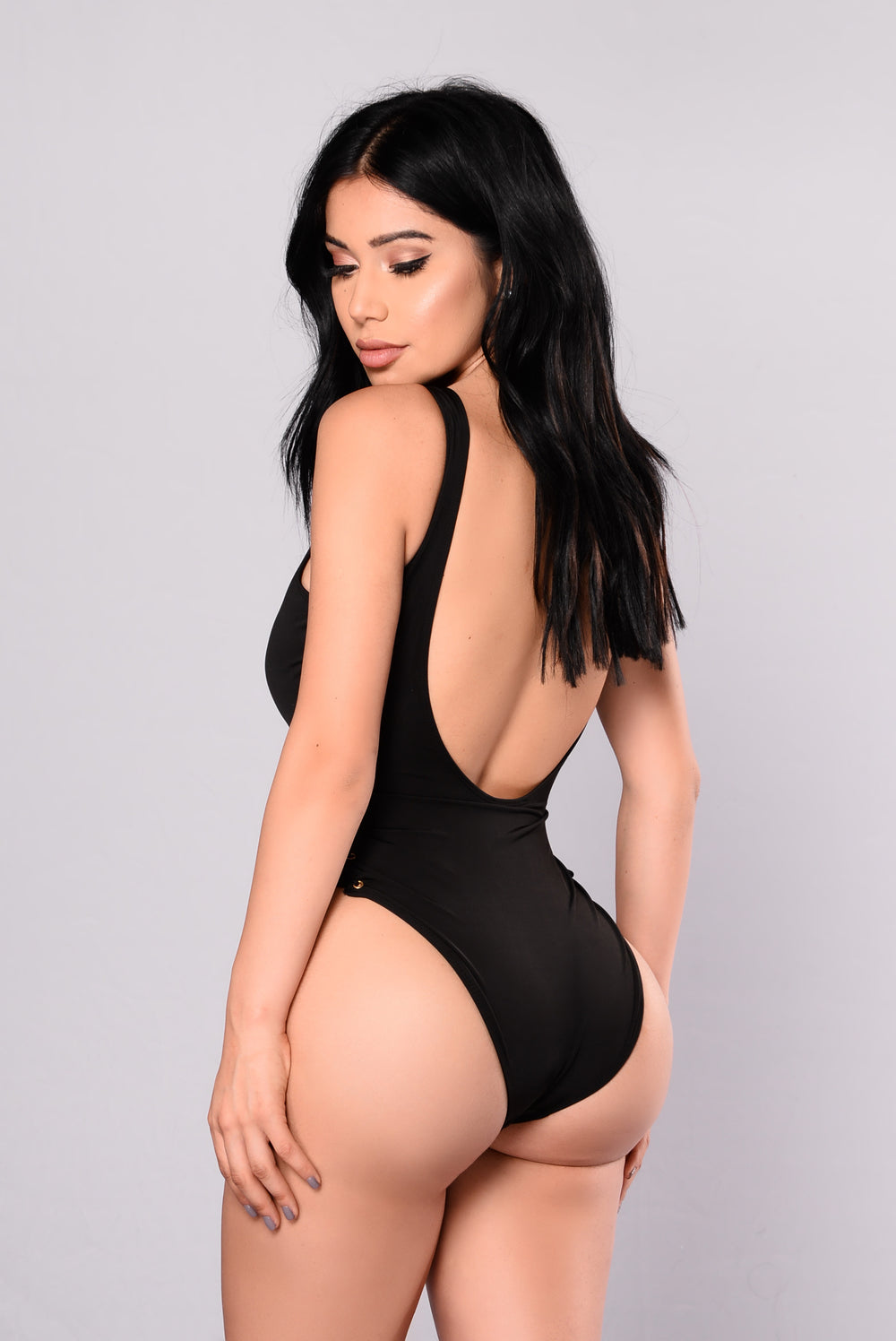 You're Knot Down Swimsuit - Black