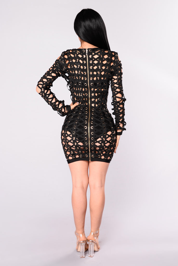 VIP Bandage Dress - Black