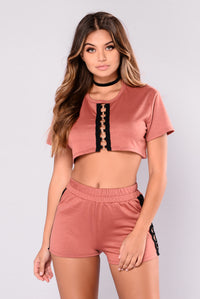 Only You Grommet Top - Mauve