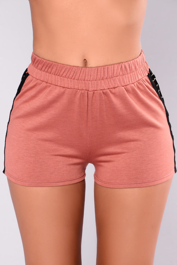 Only You Grommet Shorts - Mauve
