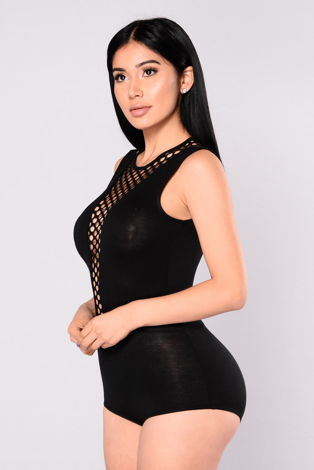 Hands To Yourself Bodysuit - Black