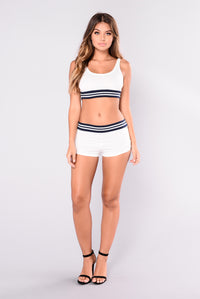 Mile High Club Top - White/Navy