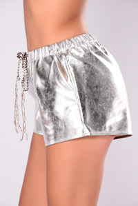 Pleasure Over Pain Shorts - Silver