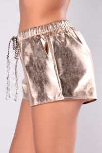 Pleasure Over Pain Shorts - Rose Gold