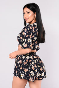 Glory Floral Set - Navy Floral