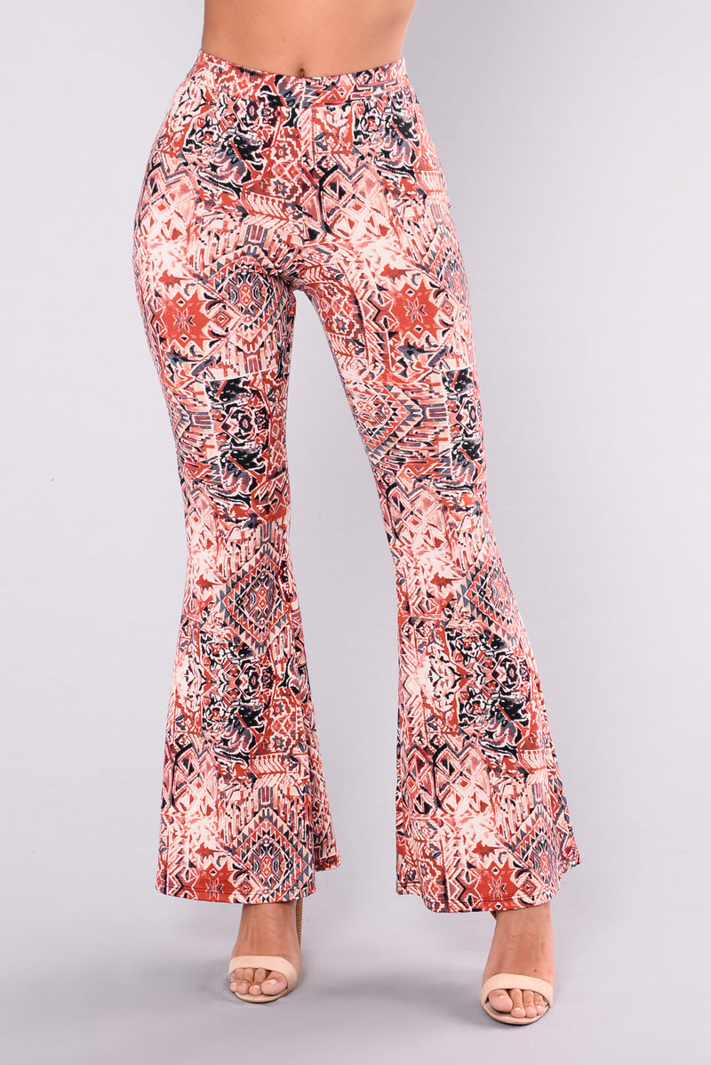 Lita Pants - Rust/Multi