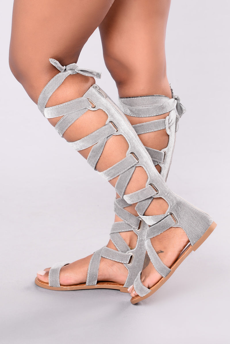 Velvet Touch Sandal - Grey