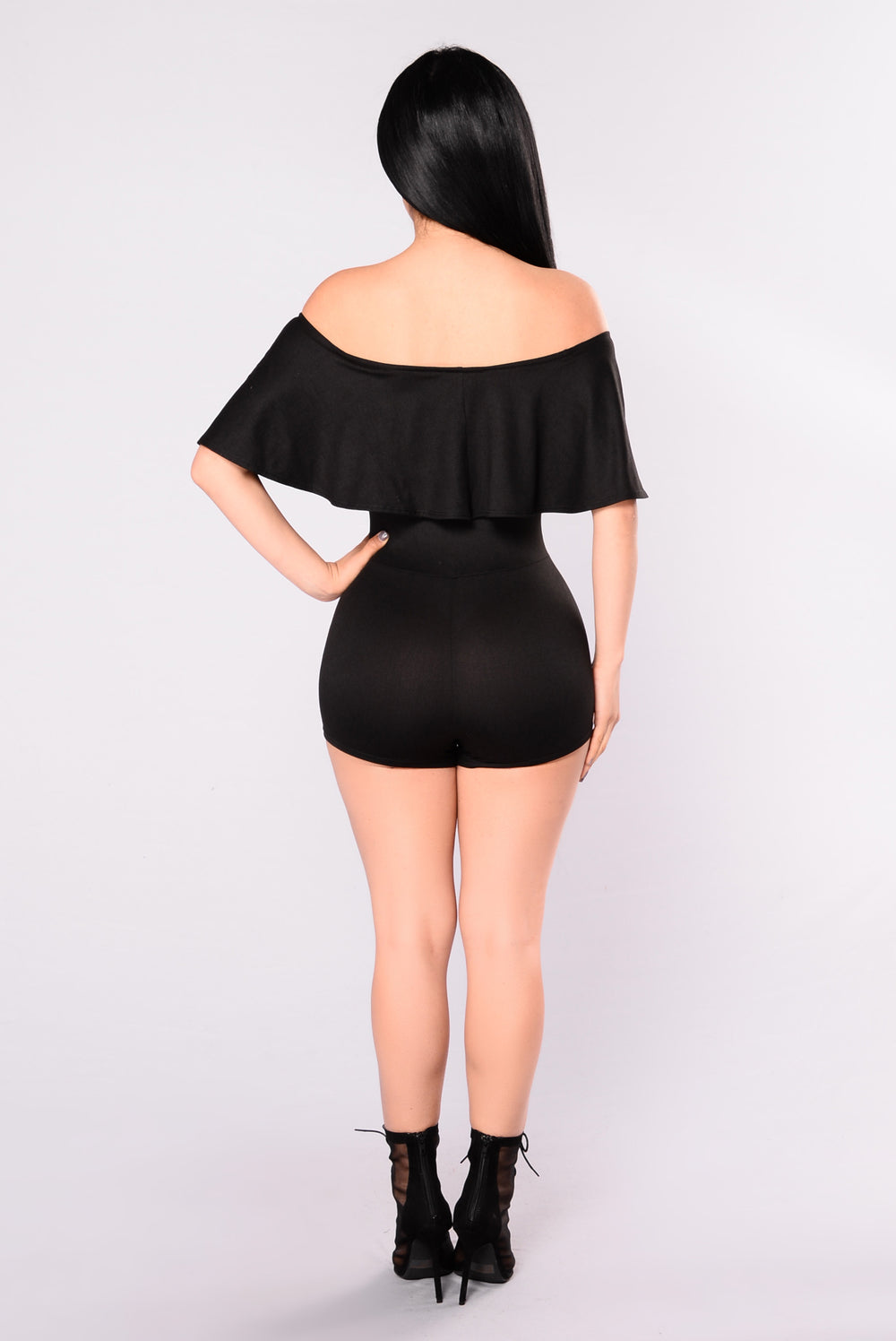Silent Day Romper - Black