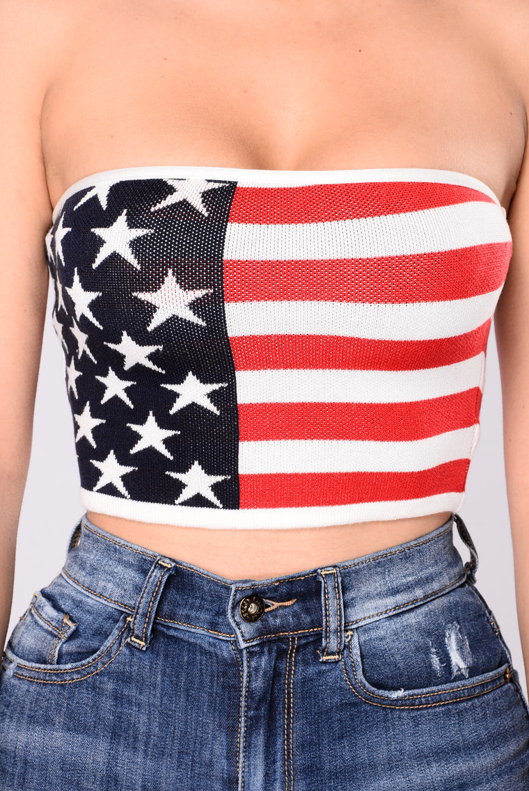 Great America Tube Top - Flag