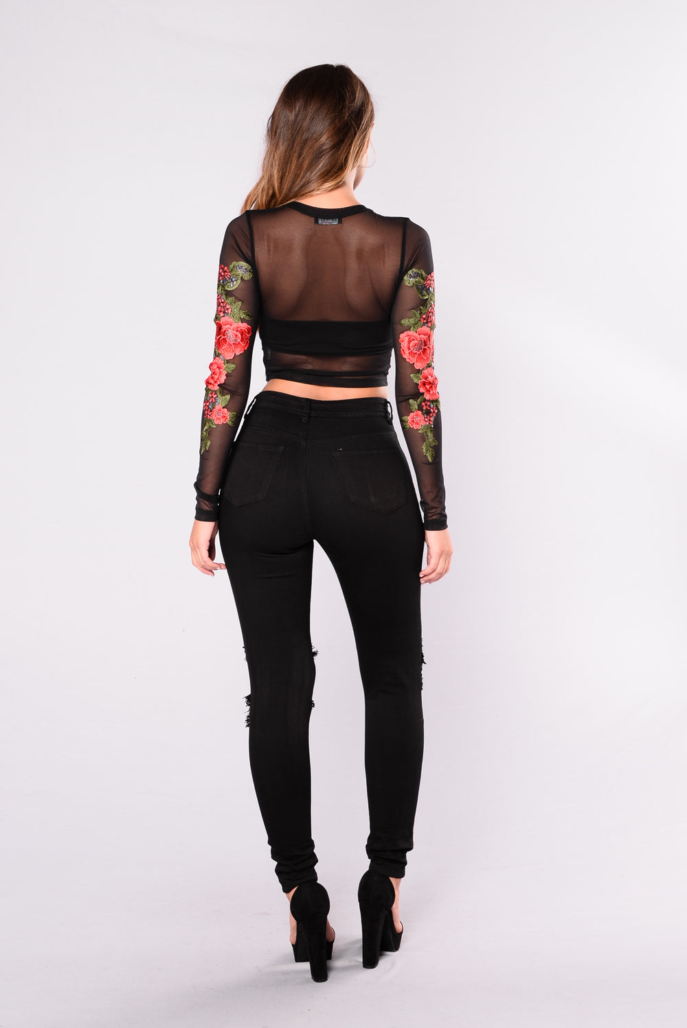 Catch The Patch Top - Black