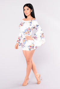 Dream Paradise Romper - White