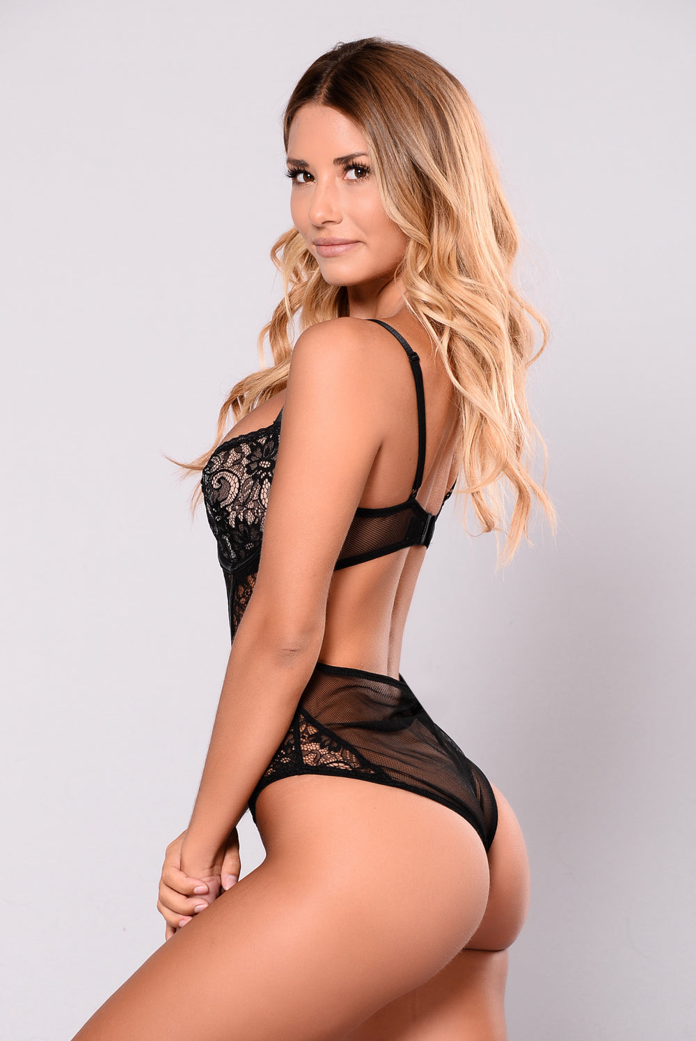 Love Forever Lace Teddy - Black